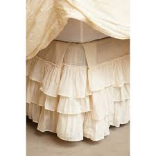 Anthropologie Pleated Ruffles Bedskirt 130 CAD ❤ liked on