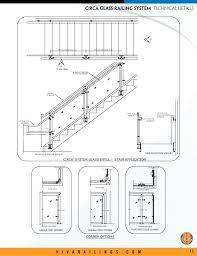 Glass Railing Detail Exterior Balcony Deck Com Stair Details Dwg