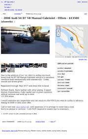 Untuk $ 13,500, Bisakah Audi S500 Audi S4 2008 Ini Membuat Anda ... Capitol Buick Gmc San Francisco Bay Area Dealership For 6000 Is This Mustang A Treat Login March 23 2018 Axios Craigslist Sf Used Cars Tutorial Video With Search Someone Asking 35000 For A 2000 Acura Integra Type R The Drive Posting Car Dealers Auto Dealer Find Out The Best Deal Rent In From Flagging Tools New Software How To Post Job On Definitive Guide Proven