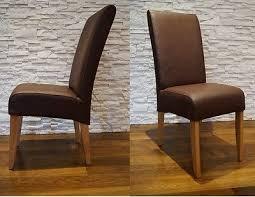 braun esszimmerstühle glatt echt leder stühle lederstühle