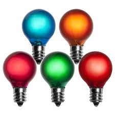 e12 and wedding globe lights g30 satin multicolor 5 watt