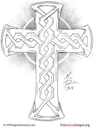 Irish Cross Tattoo Design