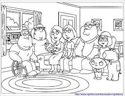 Coloring Pages Of Family Guy