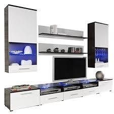 wohnwand anbauwand cama ii modernes wohnzimmerschrank tv lowboard vitrine wandregal design mediawand wohnzimmer set ohne beleuchtung wenge