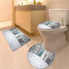 miki da badezimmer rutschfester teppich set abstract