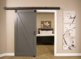 Contemporary barn door hardware basement contemporary with gray