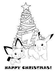 Printable Pokemon Christmas Coloring Pages