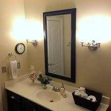 Guest Bathroom Makeover Birds Butterflies Ideas Wall Decor AFTER