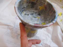 Cover The Whole Vase With A Layer Of Strips And Smooth Them Out Your Finger