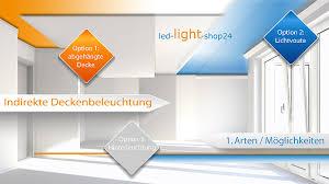 indirekte beleuchtung mit led strips in rgb und weiss