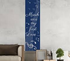 wandtattoo banner spruch musik was my in 16 farben noten streifen flur wandaufkleber wohnzimmer aufkleber 1u409 wandtattoos und