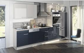 einbauküche mankaindi 6 indigoblau grau hochglanz küchenzeile 330 cm ohne geräte