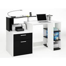 bureau blanc et bureau oracle mdf blanc perle noir 1 tiroir et 1 porte achat
