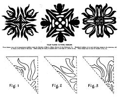 Tulip Paper Cutting Designs vintage paper craft thecmn