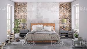moderne schlafzimmer innenraum mit leere wand für textfreiraum stockfoto und mehr bilder bauholz brett