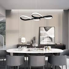 zmh led pendelleuchte esstisch pendelleuchte schwarz hängeleuchte 47w dimmbar mit den fernbedienung hängele esszimmer arbeitszimmer wohnzimmer
