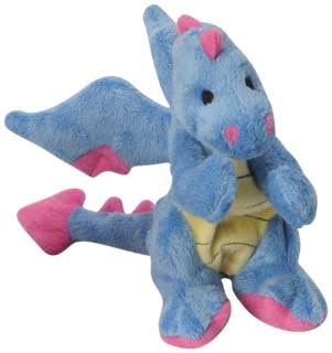 Go Dog Dragon with Chew Guard Dog Toy - Periwinkle, Small