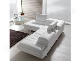 canapes cuir blanc canapé cuir maxdivani habart angle droit en cuir blanc pas cher