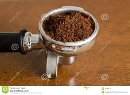 Ground Coffee In A Portafilter
