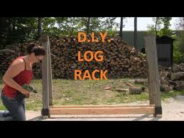 diy customizable firewood rack with the stack n store log rack