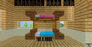 a Bunk Bed in 3 Step Tutorial Minecraft Project