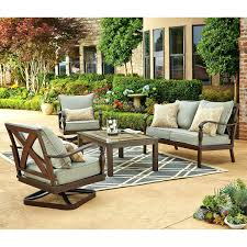 Patio Furniture Conversation Sets With Fire Pit by Patio Ideas Hanover Outdoor Furniture Strathmere 6 Piece Wicker