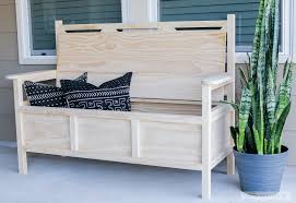 how to build a diy outdoor storage bench