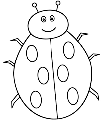 Lady Bug Is Smiling Coloring Page