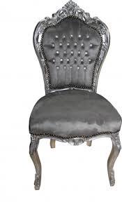 casa padrino barock esszimmer stuhl grau silber mit bling bling glitzersteinen antik stil