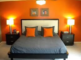 orange und graue schlafzimmer ideen dekoration ideen