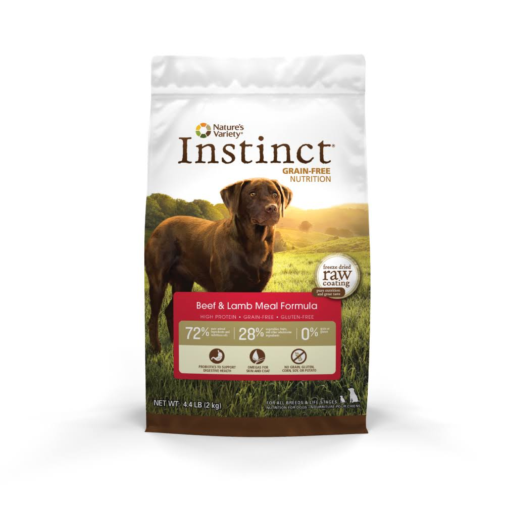 Instinct Original Grain Free Dry Dog Food - Beef/Lamb - Size: 13.2 lbs. Nature's Variety