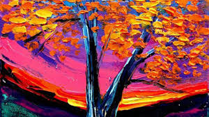 Flossy Easy Acrylic Painting Ideas Fall Trees Home Tree Paintings In