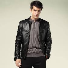 2013 New Fashion Mens Genuine Leather Jacket Real