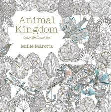 Animal Kingdom Adult Coloring Book Stress Relief Patterns Designs Fun Relaxation Secret Garden