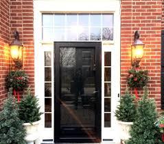 Therma Tru Entry Doors by Black Front Door With Sidelights Adjust Therma Tru Front Door