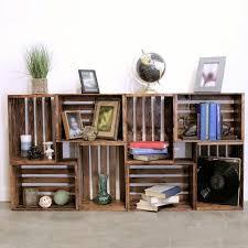 Wood Building Shelves by 25 Best Crate Bookshelf Ideas On Pinterest Desk To Vanity Diy