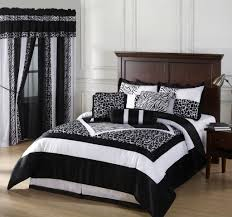 Bed Comforter Set by Bedroom Luxury Embossed Solid Oversized Bedding With Black And