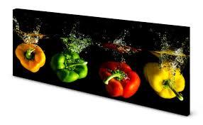magnettafel pinnwand bild küche paprika schwarz bunt gekantet