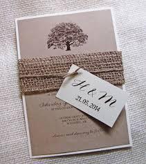 Oak Tree Wedding Invitation Rustic Burlap Kraft