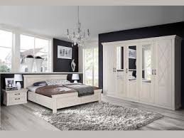 forte kashmir schlafzimmer 4 teiliges set mit bett ca 180x200cm kleiderschrank und zwei nachttischen im dekor pinia weiss