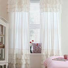 Ruffle Blackout Curtain Panels by Hanging White Curtain Panels Med Art Home Design Posters
