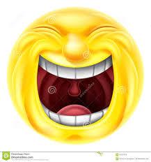 Laughing Emoji Emoticon Stock Vector Illustration Of Happy