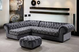 Gray Sectional Living Room Ideas by Amazing Grey Sectional Sofa With Floral Design For Elegant Living