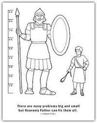 David And Goliath Scripture Sticks Stones Discussion Coloring Sheet