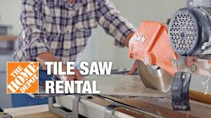 Tile Saw Blades Home Depot by Tile Saw Rental The Home Depot Youtube
