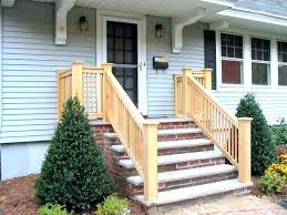 Outdoor Railings Stairs Porch Stair Ideas About Front Vinyl