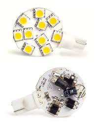 disc type t10 led bulb ac dc 12v 3200k warm white torchstar