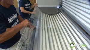 how to change your tanning bed ls