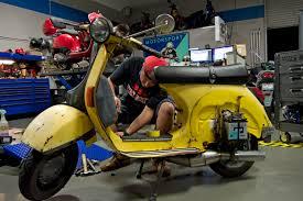 6 Salton Sea Raventurous Vespa Race Scooter Lambretta Repair Modification Modified Vintage