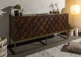 sideboard mango 183x46x89 braun lackiert stilmöbel 126